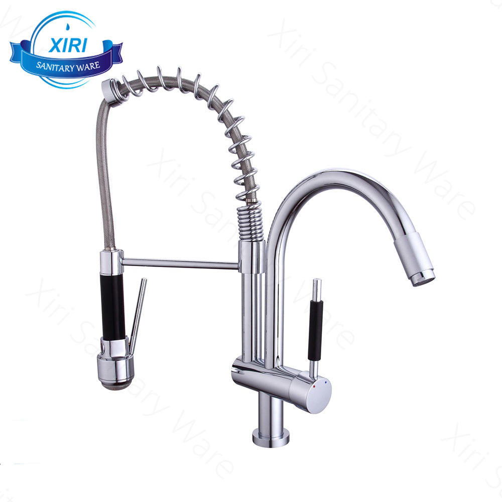 (KF113) 2017 New LED Kitchen Spring Faucet Pull Down Faucet Kitchen Mixer Sink Tap