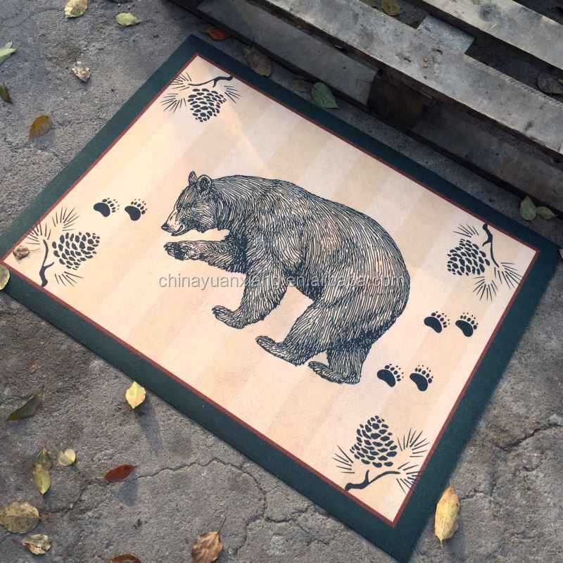Animal Bear Design Dye Sublimated Printed Mat