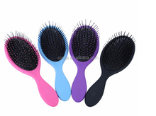 Abody Hair Scalp Massage Comb Hairbrush Bristle&Nylon Women Wet Curly Detangle Hair Brush