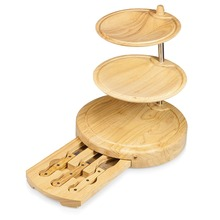 Three-Tiered Cheese Board/Tool Set with food tray