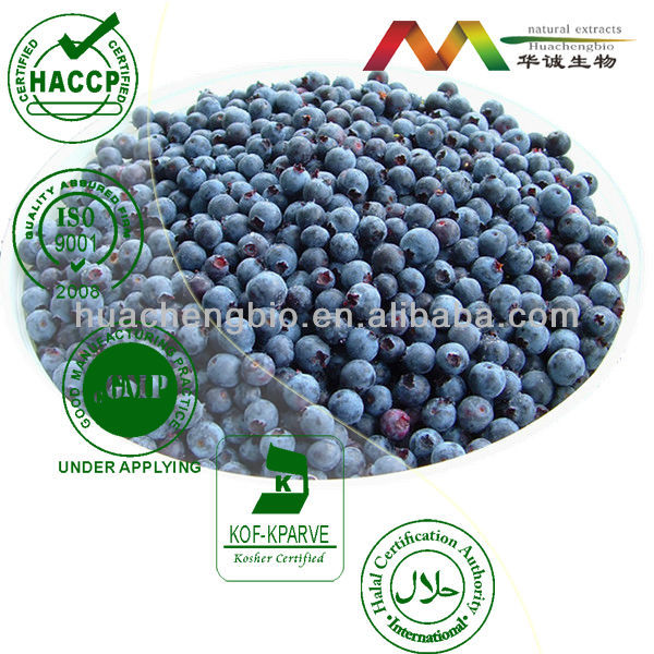 Natural Antioxidant Blueberry S.E. 1%~25% Anthocyanidins