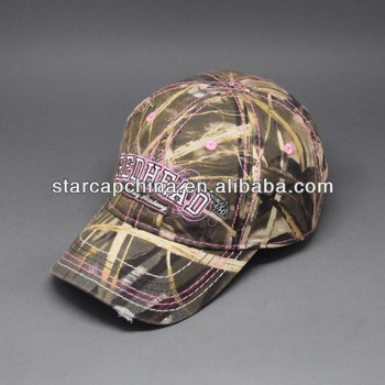 CUSTOM EMBROIDERY CAMO CAMPER BASEBALL CAP