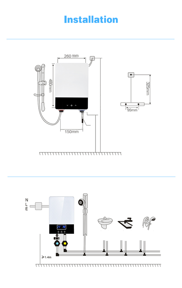 New Arrival 110V 60Hz  Constant Temperature 3.3 kw Tankless Instant Electric Shower Water Heater