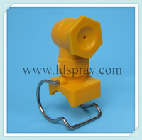 New type plastic pp clip clamp hollow cone spray nozzle