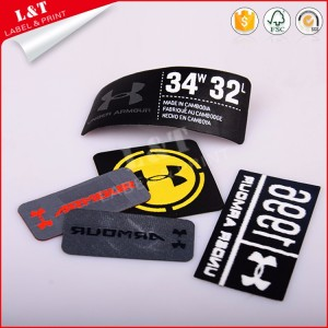 Best Selling Woven Garment Embossed Printed Clothing Labels