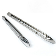 "9"" 12"" 2 pcs set stainless steel food tongs serving tongs kitchen tongs"