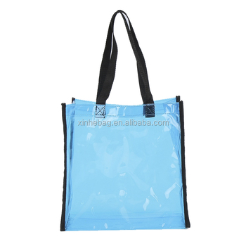 fashion waterproof recycle washing clear PVC bag