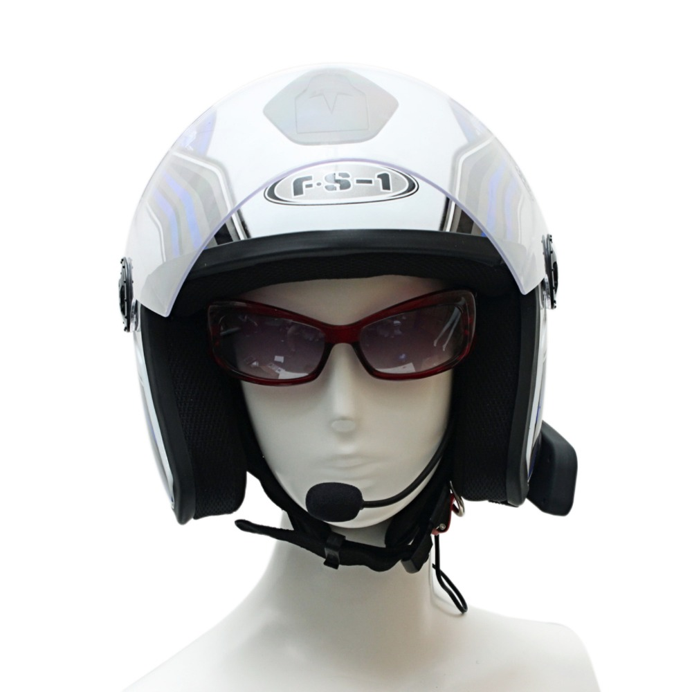 2pcs Waterproof Helmet Intercom Motorcycle Headset Handfree Automatic Bluetooth Intercom + FM Radio Function