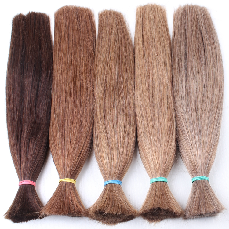 hair bulk Wholesale factory price natural color #4#6#8#12#18#613 unprocessed virgin brazilian human hair bulk without weft
