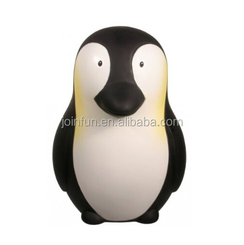 custom make PVC vinyl Penguin Money Holder Piggy Bank,customized animal penguin money bank