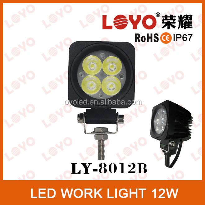 12W offroad led work lighting auto led driving light for trucks, atv, suv, 12W LED auto working light