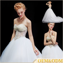 Strapless wedding dresses china a line french style gowns