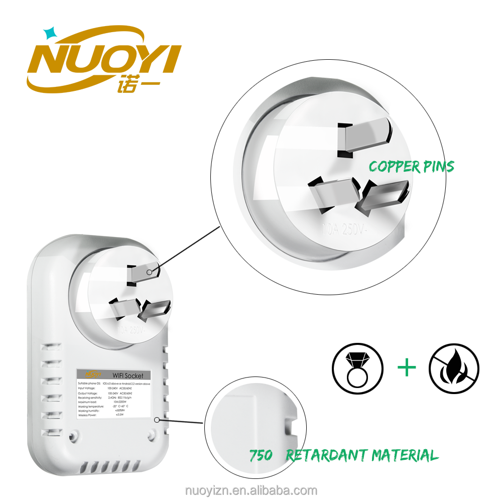Energy saving and Control Anywhere Factory Supply WIFI Light Switch Socket