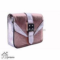 Custom fashionable sholder strap leather phone bags girls shoulder bags