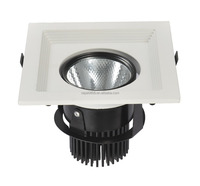 Recessed led grille lamp for cloth store lighting 12w cob led grille light square surface ring led rotate grille light