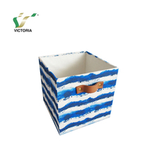 Qingdao Victoria Polyester Fabric Cloth Sundries Baskets Storage Box in Home With Fashion Pattern