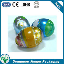 Customized fancy empty metal easter egg tin box