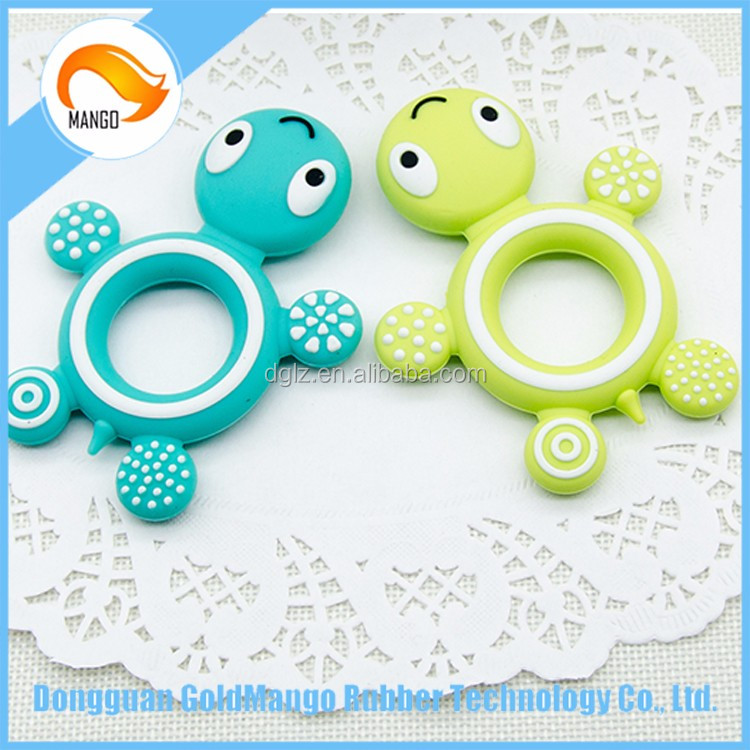 BPA Free Cute Turtle Food Grade Silicone Soft Baby Teether/Silicone Baby Teeth Stick