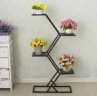 American restore ancient wrought iron display shelf stand decoration flower display rack