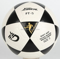 PU training soccerball,PVC laminated,PU laminated football,Embossed Logo,White Color.QIANXI XIDSEN brand