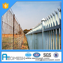 Garden Decoration Color Painted Aluminum Garden Picket Fence plastic pvc fence panel