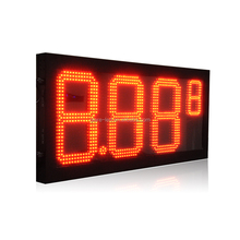12'' 4 Digits 88.88 led gas price changer sign for gas station