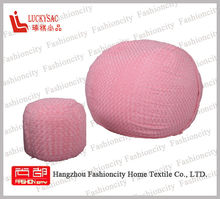 Popular Soft Chair Bean Bags Ball Shape Comfotable Fabric Pink Eskimo OEM