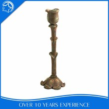 Zinc Alloy Brown Jewish Ceramic Cemetery Candle Stick Holder