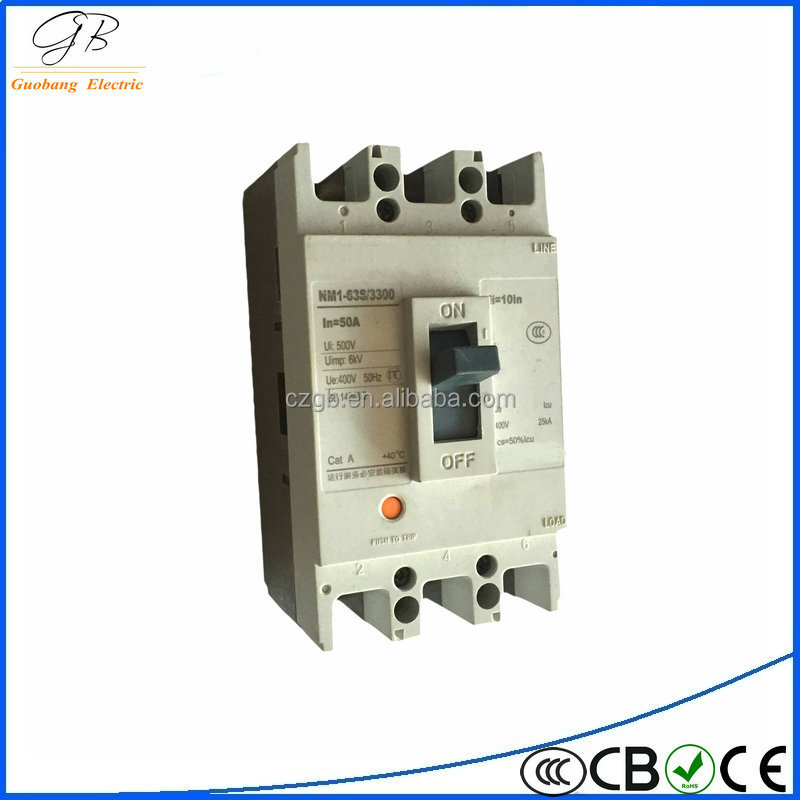 free sample 4P MCCB/3P MCCB 3 phase/4 phase low voltage earth leakage protective molded case circuit breaker