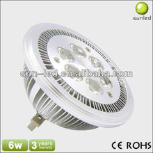 6W round high power g53 ar111 led spotlight lamp