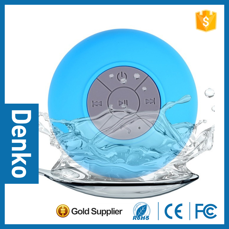 Water Proof <strong>Bluetooth</strong> 3.0 Mini Water Resistant Wireless Shower Speaker, Handsfree Portable Speakerphone with Built-in Mic