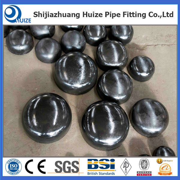 butt weld tube end cap ASTM/JIS/GB/DN pipe fitting caps