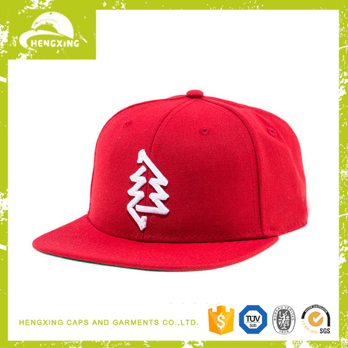 Hip Hop 100% Wool Snapback Hat Square Brim Snapback Hat 3D Embroidery Custom Wholesaler Snapback Hat Paypal