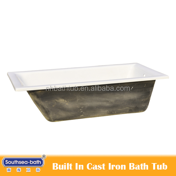 cast iron bath tub with enamel finished interior