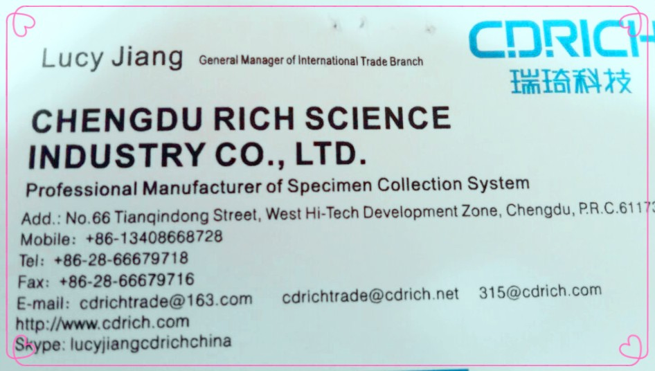All Kind Of Size And Additive Disposable Vacuum Blood Collection Tube Approved With CE ISO