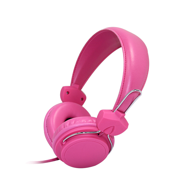 Colourful 85 db wired stereo kid headphone Adjustable Over Ear Headphones for children