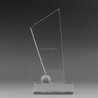 Crysta plaques with clear crystal base business crystal golf trophies