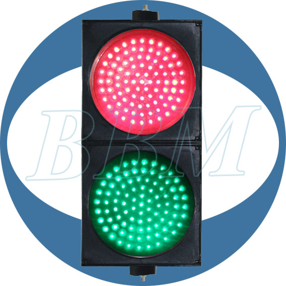 20% Discount 200mm Red And Green Ball with Clear Lens LED Traffic Light