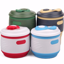 New Design Mini Portable Food Grade Silicone Collapsible Coffee Cup