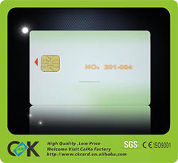 PVC plastic contact ic smart card printing with CMYK 4C color printing for best price.