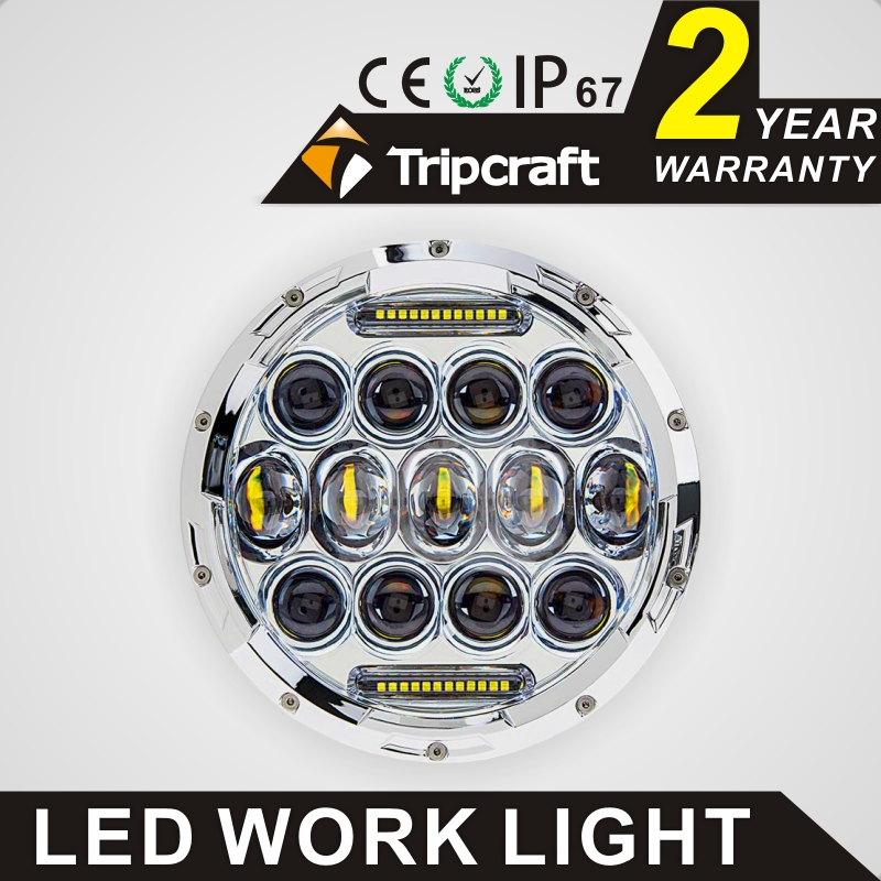 40w Led Car Work Light 75w Harley 7 inch Cheapeast shipping Led Work Light for Harley
