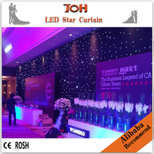 Portable stage curtain backdrop/led star curtain/ led star drop curtain for sale