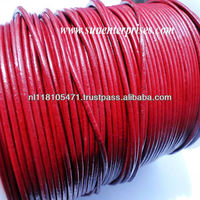 Round Leather Cords - SE R 12 Red Wine - 2mm