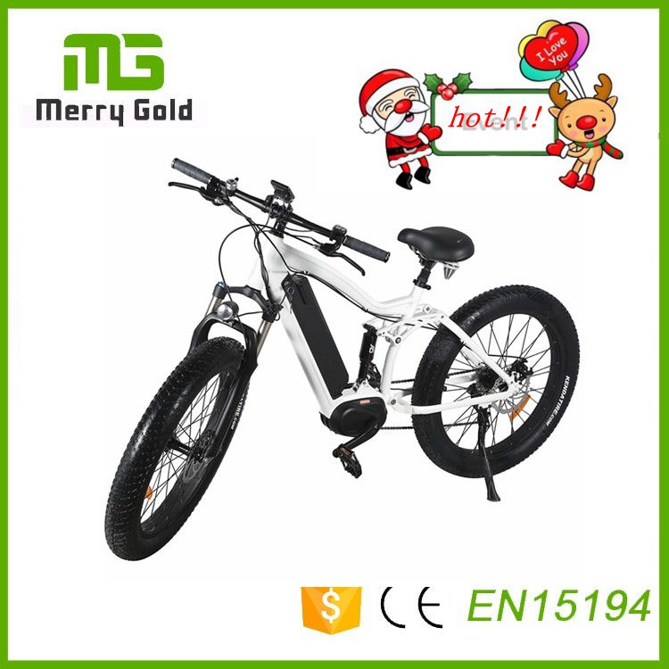 Snow e bikes fat tire MTB e bicycle 48v 350w electric mountain bikes with 8 speed