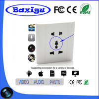 NEW product in 2017 home security camera system wall socket mini hidden camera PQ114 with wireless light socket camera