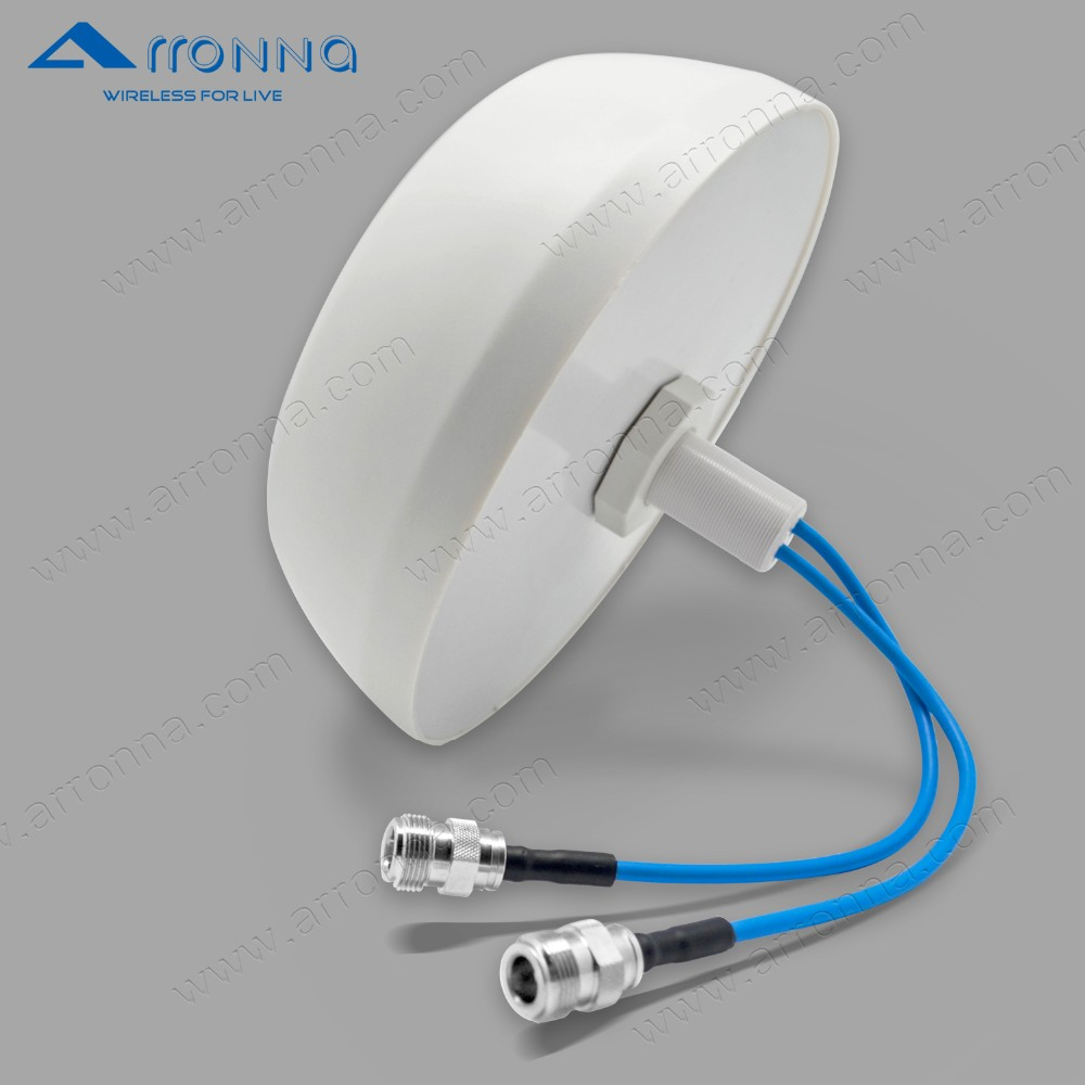 New products 4G LTE mimo omni ceiling mount PIM @2*43dBm antenna (OEM)