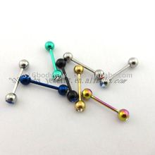 fashion stainless steel basic piercing jewelry unique industrial barbell