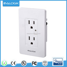 Z-wave wireless smart plug-in receptacle outlet for home automation(ZW32)