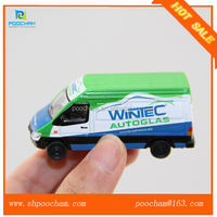 1:87 scale diecast metal mini van model for promotion