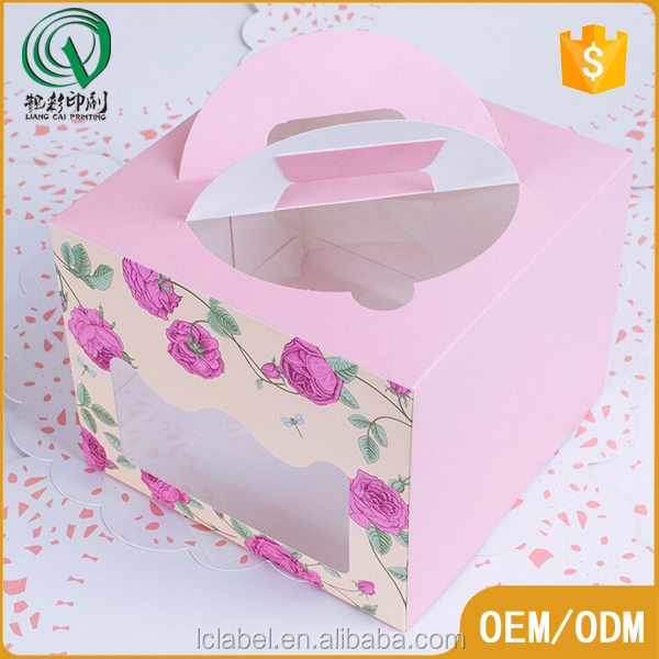 Pretty hard paper box paper cupcake box for sale
